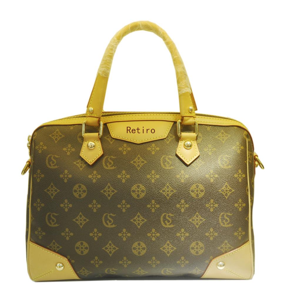 top quality monogram Retiro tote oxidation genuine leather straps  M40324 M40325 Classic designer bag women handbags(China (Mainland))