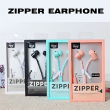 2016 New Cute Girls Stereo Zipper Earphones 3.5mm in-ear Earphone with Microphone for Mobile Phone Mp3 Mp4 Kid Children Gift