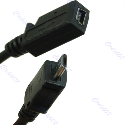 Free shipping Micro Male to USB Mini 5 Pin Charger Cable Adapter Black<br><br>Aliexpress