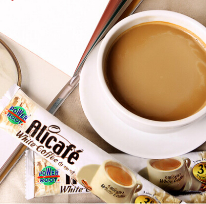 10 PCS lot Malaysia imported white coffee brown Tellus three in one espresso instant coffee in