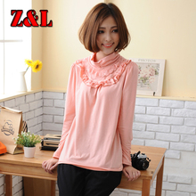 ON Sale~Spring&autumn maternity base shirts knitting cotton bottoming t-shirts for pregnant women casual maternity base tops(China (Mainland))