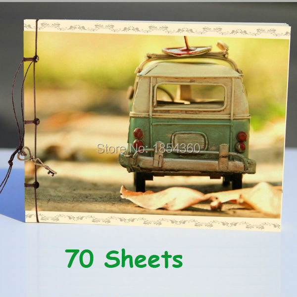 Free shipping vintage Bus Cover notebook / pocket notepad / Blank Drawing Book note book /creative Book(China (Mainland))
