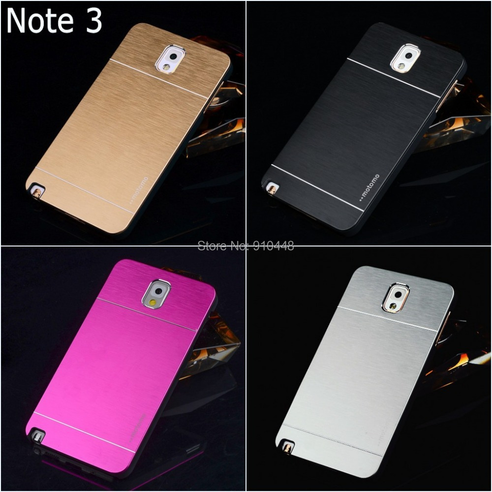 Fashion Luxury Brushed Aluminium metal hard silicon back case cover Samsung Galaxy Note 3 III Note3 N9000 - E-Credible Technology Co.,Ltd. store