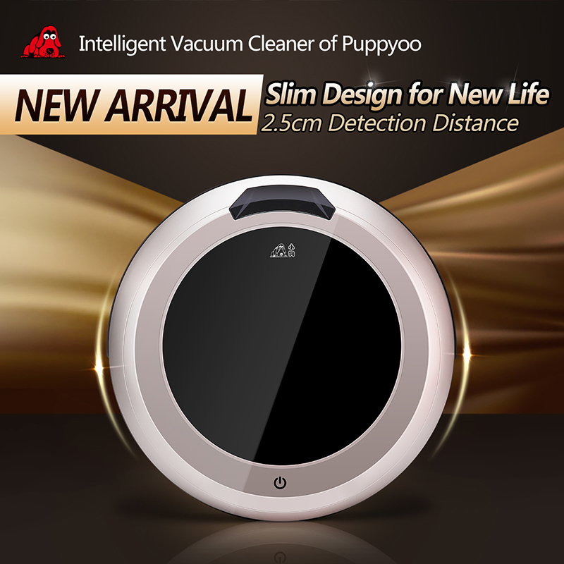 Multifunction Intelligent Robot Vacuum Cleaner Self-Charge for Home,LED Touch Screen ,Remote Control, V-M611 PUPPYOO()