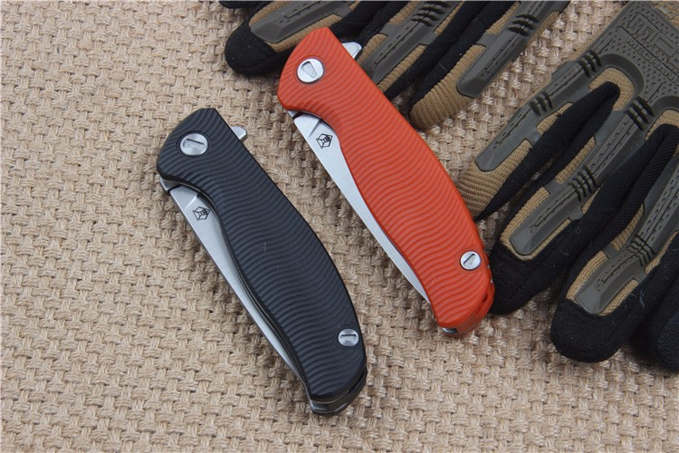 Buy G&P OEM bear 95 pocket folding knife g10 handle D2 blade hunting outdoor camping tactical survival brand knife EDC tool gift cheap