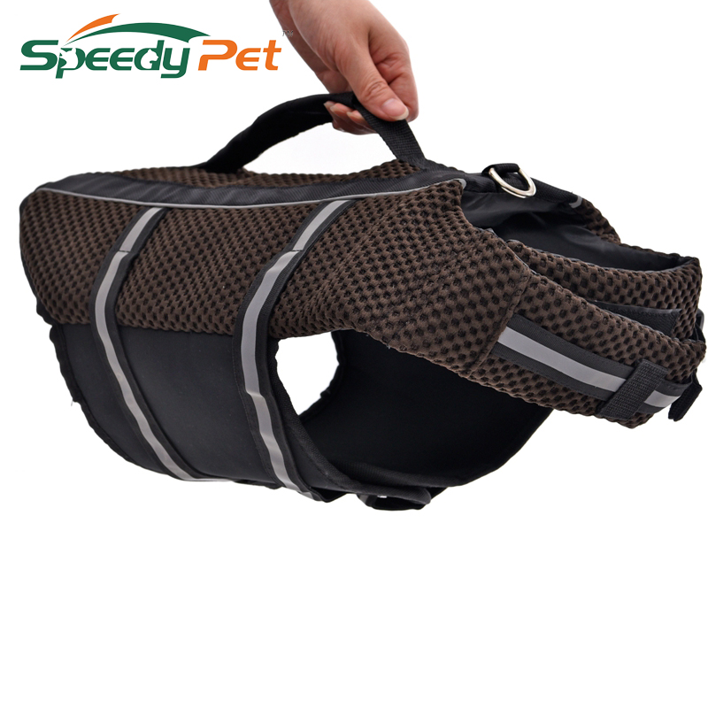 Free Shipping Durable Oxford Breathable Mesh Pet Dog Life Jacket Summer Dog Swimwear Puppy Life Vest Safety Clothes For Dogs(China (Mainland))
