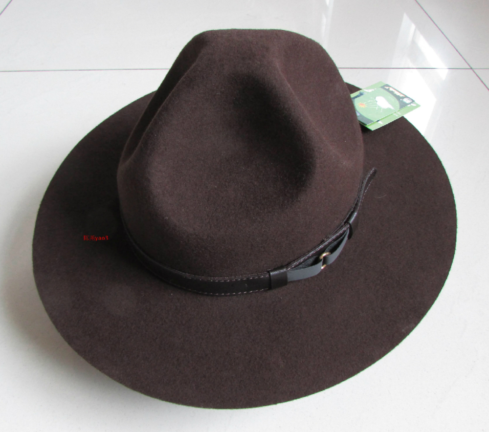 Wool Felt Brown Mens hats Large Size Fashion Mountain Hat(China (Mainland))