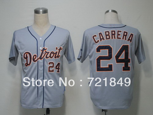 Retail Factory Price /Cheap Youth Baseball Jerseys Detroit Tigers #24 Miguel Cabrera Jersey kids size S-XL Free shipping!(China (Mainland))