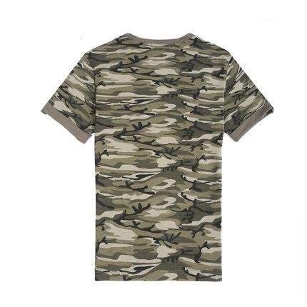 Бесплатная доставка 2015 лето E-BAIHUI камуфляж футболки мужчин хлопка одежды мужчин камо футболка фитнес топ тройник скейтборд