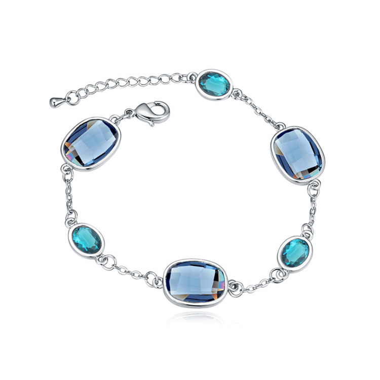Hot rock cube square bracelets hand chain for men and women made with Swarovski ELements crystals from Swarovski(China (Mainland))
