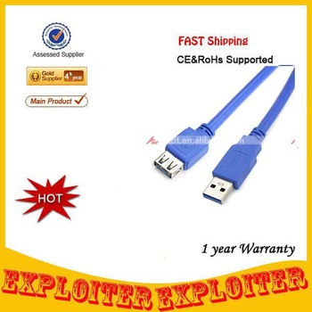 USB 3.0 AM to AF Extension Cable (1.5M-Length),Free Shipping