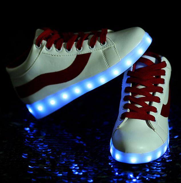 ПРИВЕЛО Обувь мужчины женщины причинно платформа СВЕТОДИОДНЫЕ светящиеся Обуви свет ...