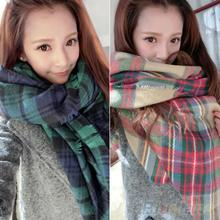 Lady Women Blanket Oversized Tartan Scarf Wrap Shawl Plaid Cozy Checked Pashmina 8DTU