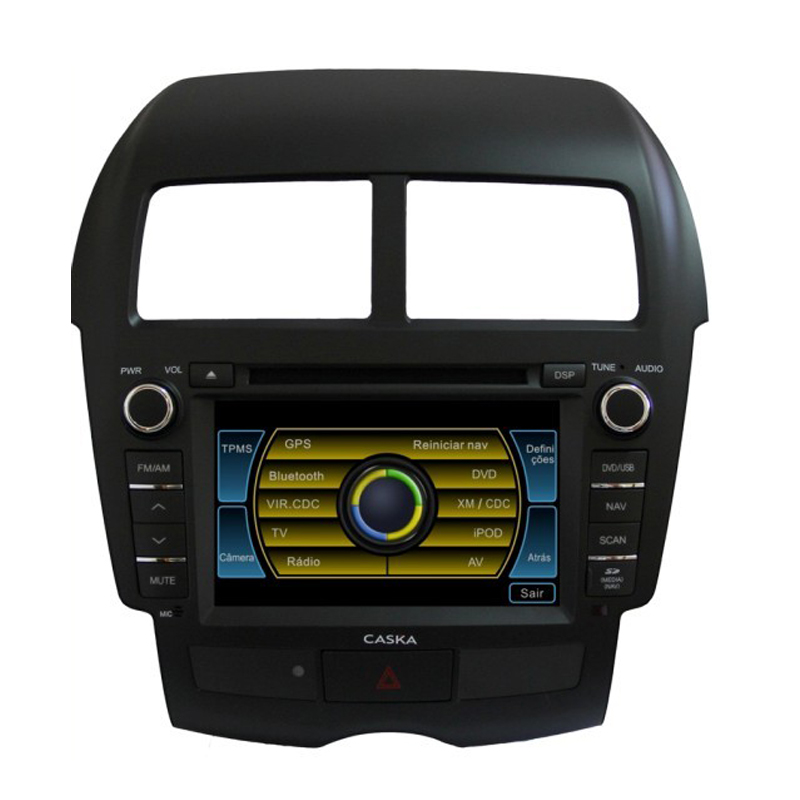 Free Map!Caska Original Car DVD Player for ASX RVR Outlander Sport/Peugeot 4008/Citroen C4 Aircross With GPS Radio RDS BT(China (Mainland))