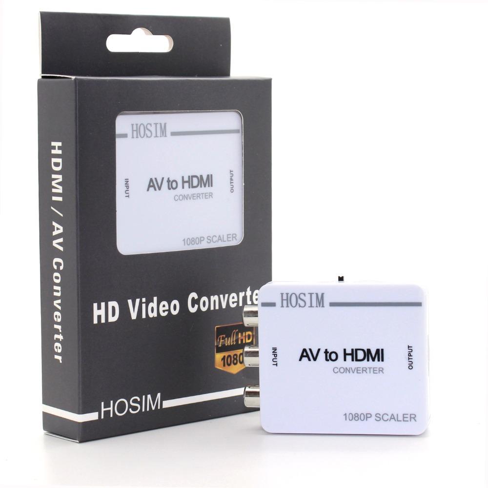 Hosim RCA AV to HDMI Converter Adapter Mini Composite CVBS to HDMI AV2HDMI Converter 720P 1080P(China (Mainland))