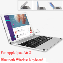 Gold/Grey/Silver Brand For Apple Ipad Air Air 2 Bluetooth Keyboard Wireless Keyboard Aluminum Alloy Smart Protective Case Change(China (Mainland))
