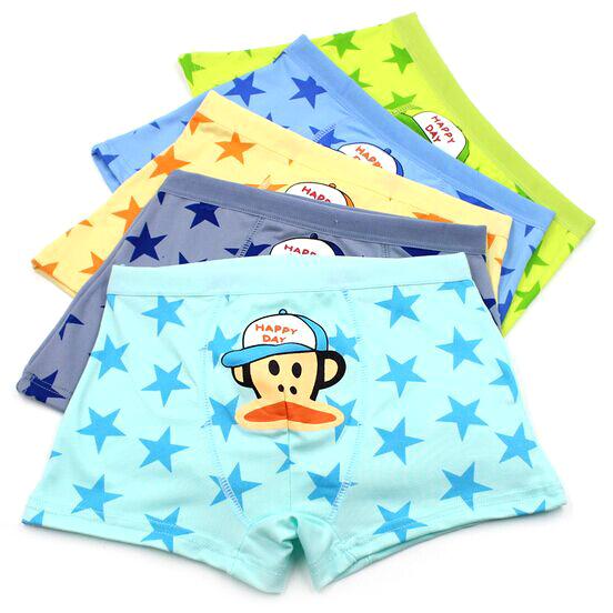 TOP Quality 3PCS 2015 New Children Cotton BoysUnderwear Boxer Briefs Boys infant panties Cotton Panties Boy cotton Cuecas(China (Mainland))