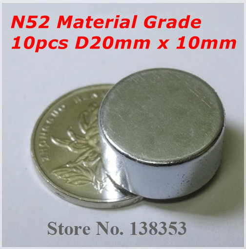 10pcs Bulk Small Round N50 N52 Neodymium Jewelry Magnets Dia 20mm x 10mm Super Strong Rare Earth NdFeB Disc Magnet<br><br>Aliexpress