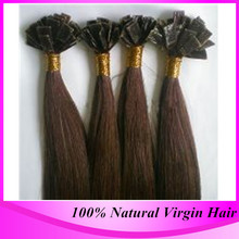 Fusion Hair Extensions Flat Tip Hair Pre Bonded Keratin Hair Extensions #60 Platinum Blonde Straight Hair On Capsules(China (Mainland))