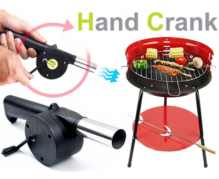 New BBQ Fan Hand Fan Cranked Outdoor Picnic Camping BBQ Barbecue Tool Fan/Blower Barbecue Fire for Camping Outdoor Activities(China (Mainland))
