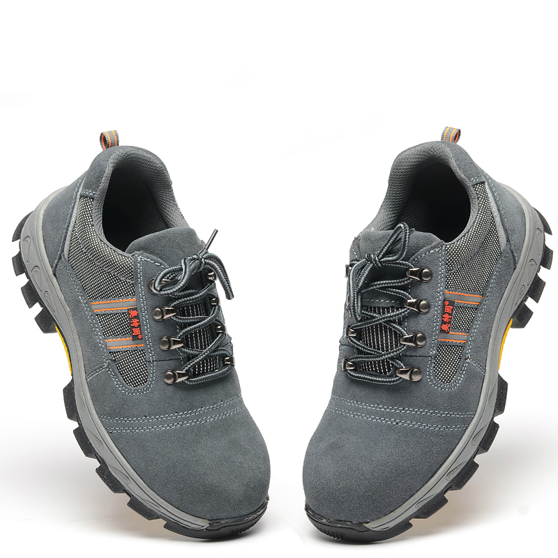 fashion plus size steel toe caps work safety shoes