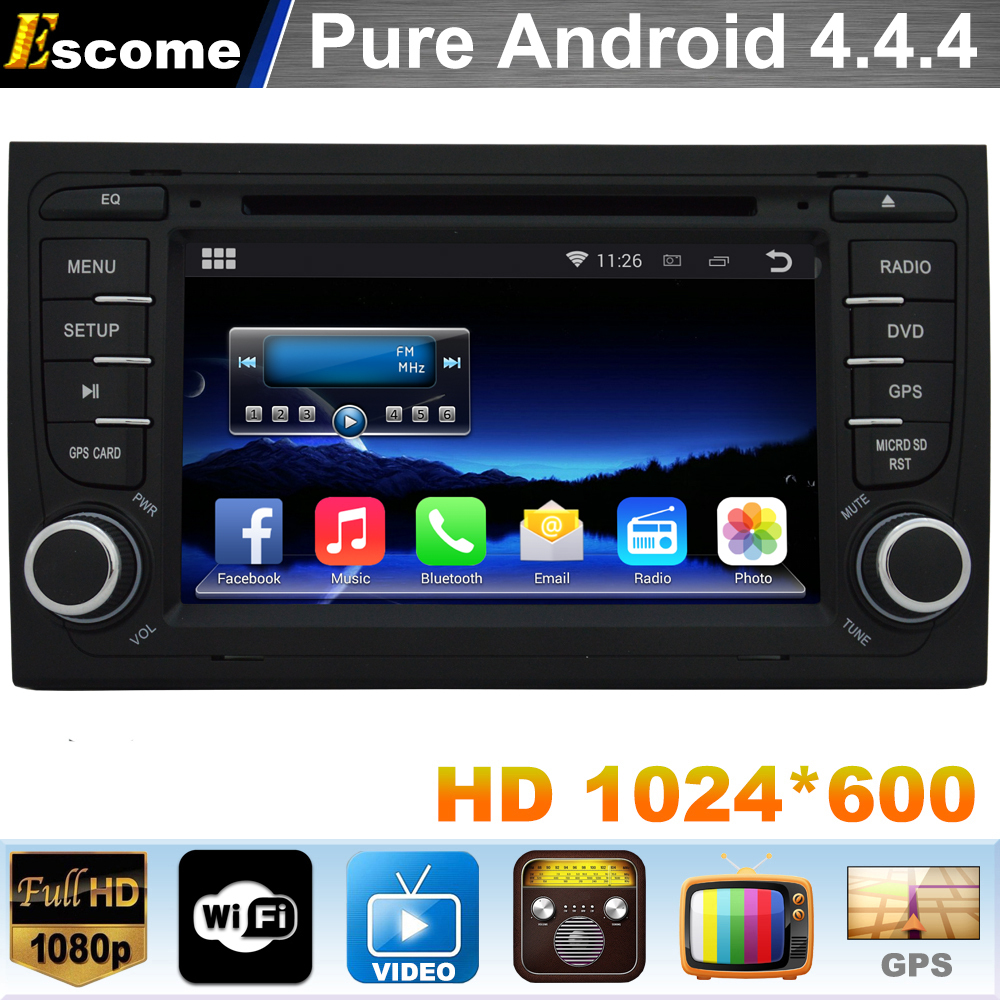 Pure Android 4.4 Car DVD Player For AUDI A4 2002 2003 2004 2005 2006 2007 SEAT EXEO 2009 2010 2011 2012 with GPS Navigation(China (Mainland))