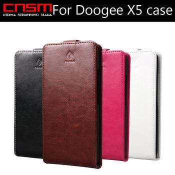 Etui dla Doogee X5 X5C z klapką | skórzane i luksowe | czarne, białe, różowe, brązowe