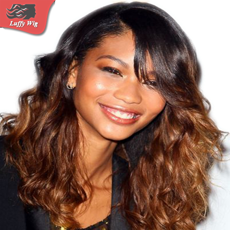 Ombre Lace Front Wig Peruvian Human Hair  Lace Front  Wigs Ombre Full Lace Human Hair Wigs for Black Women Ombre Lace Wig