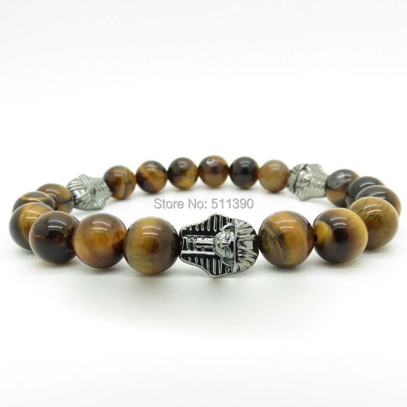 fashion 10mm real tiger eye bracelets/natural stone bracelets/beads bracelet, - Jofy store