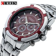 Luxury Men's Black Full Steel Casual Sport Wrist Watch Quartz Clock Male Silver Military Men Wristwatch Rolojes hombre New