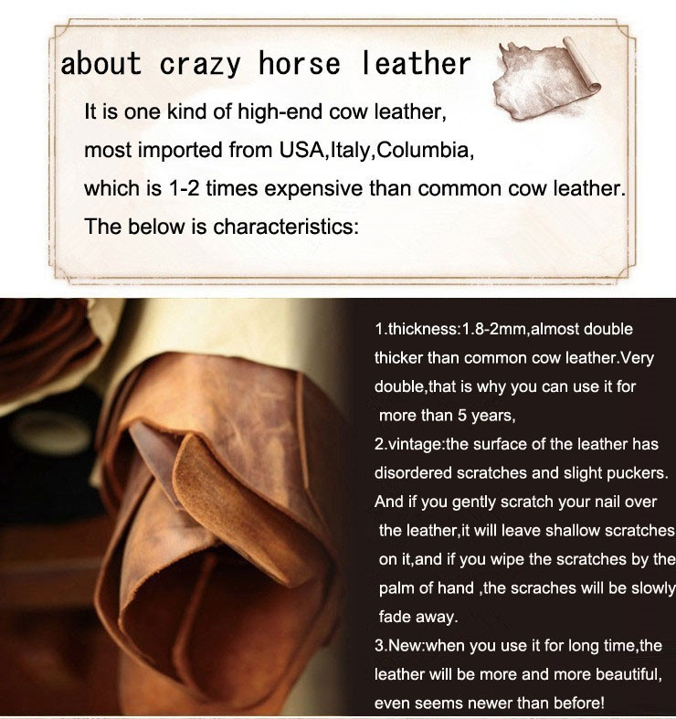 ซื้อ วินเทจสบายๆ100%หนังแท้คนเครซี่ฮMessengerถุงกระเป๋าสะพายหนังวัวผู้ชายC Rossbodyกระเป๋าสีน้ำตาลกระเป๋าเดินทางJ7263