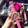 2016 New Arrival Famous Brand Wathes Full Crystal Rotate Watch Women Luxury Colorful Zircon Rhinestone Watch