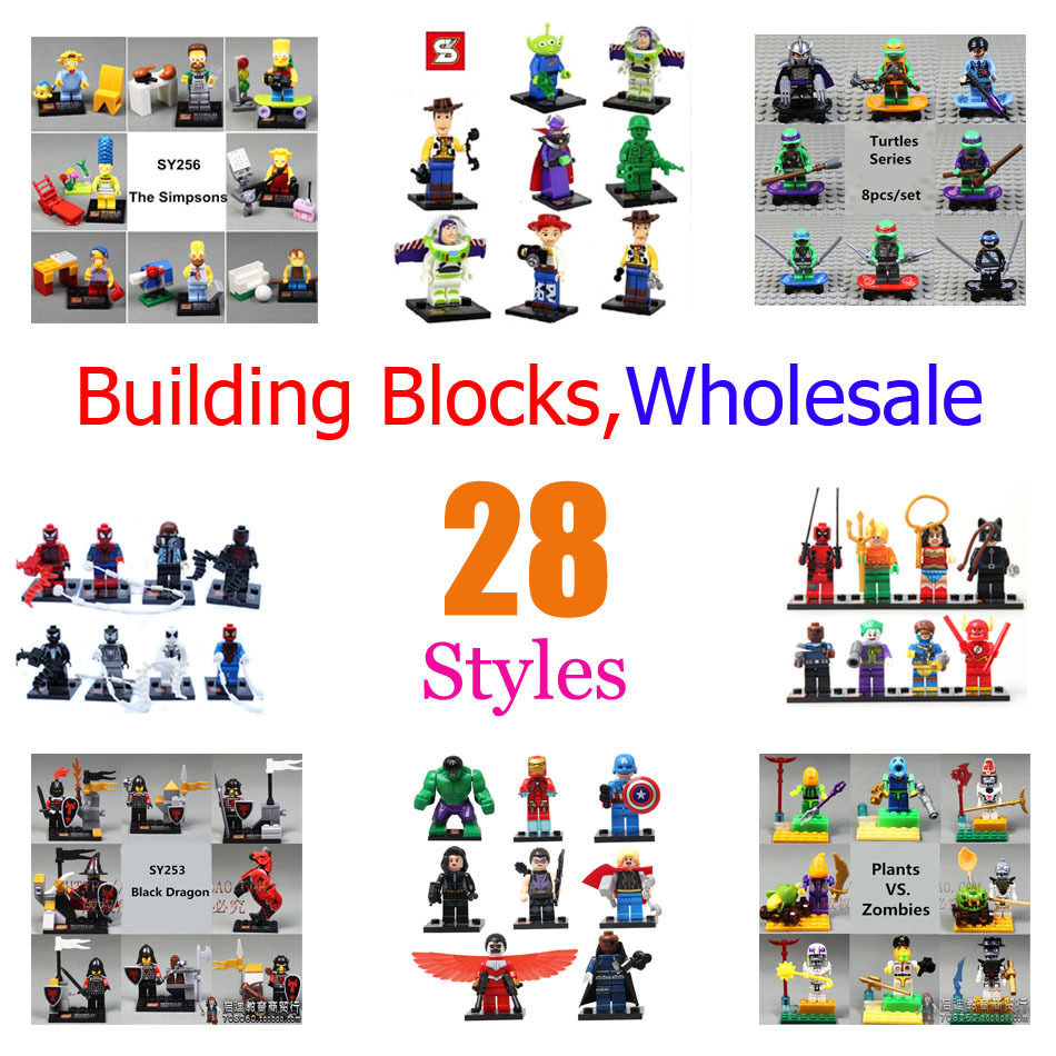 Christmas Gift S world Building Blocks Sets Avengers Super heroes Turtles Star Wars Bricks Toys Compatible With minifigures(China (Mainland))