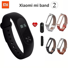 Buy New Original Xiaomi Mi Band 2 Wristband Bracelet OLED Display Touchpad Smart Heart Rate Monitor Bluetooth Fitness Tracker for $21.83 in AliExpress store