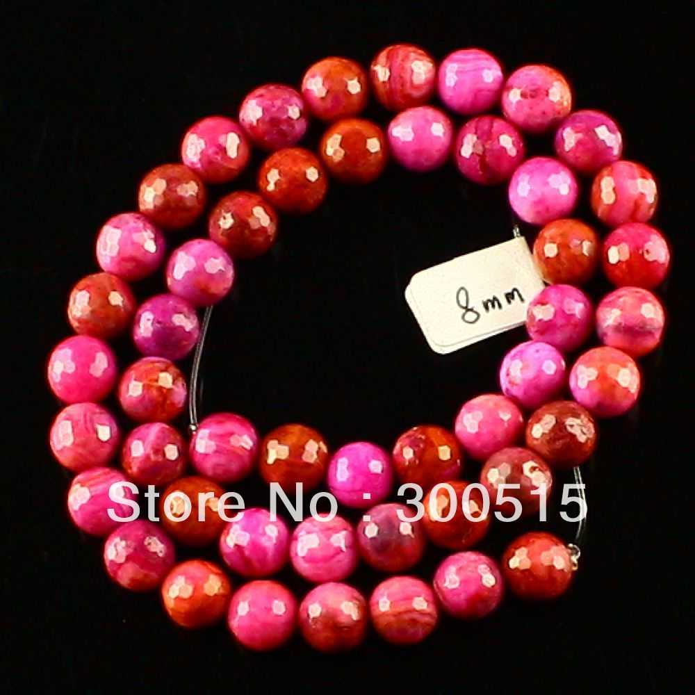 K56631 8mm Faceted Crazy lace agate ball loose bead 49pcs picture a(China (Mainland))