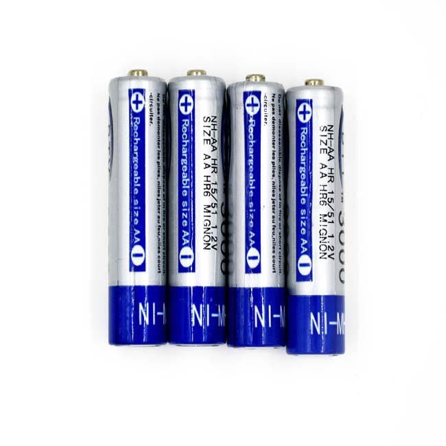 4pcs AA 3000mAh 1.2 V Ni-MH Rechargeable Battery For RC Toys Camera MP3(China (Mainland))