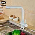 White Color Kitchen Faucet Pure Water Spout Tap Single Hole Vessel Sink Hot andf Cold Water
