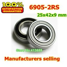High quality deep groove ball bearing 6905 2RS 6905-2RS 61905-2RS 6905RS 6905RZ 25*42*9 mm 10pcs/lot(China (Mainland))