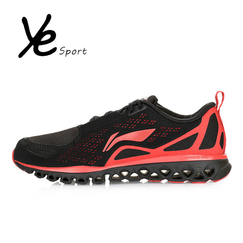 LI-NING Original Mens Running Shoes Lace-Up Breathable Mesh Zapatos Para Correr Casual Outdoor Men Jogging Homme