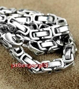 5pcs lot great men's&boy thin Stainless Steel 6mm Byzantine chain necelace,21.6'',birthday,Thanksgiving ,Christmas gifts(China (Mainland))
