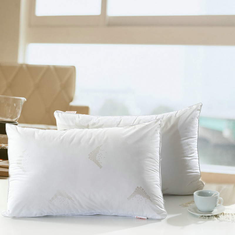 3D Antibacterial anti mite pillows,Size 48x74cm x 10cm height, 1000g weight Soft Bedding Pillow,Zero Pressure Neck white Pillows(China (Mainland))