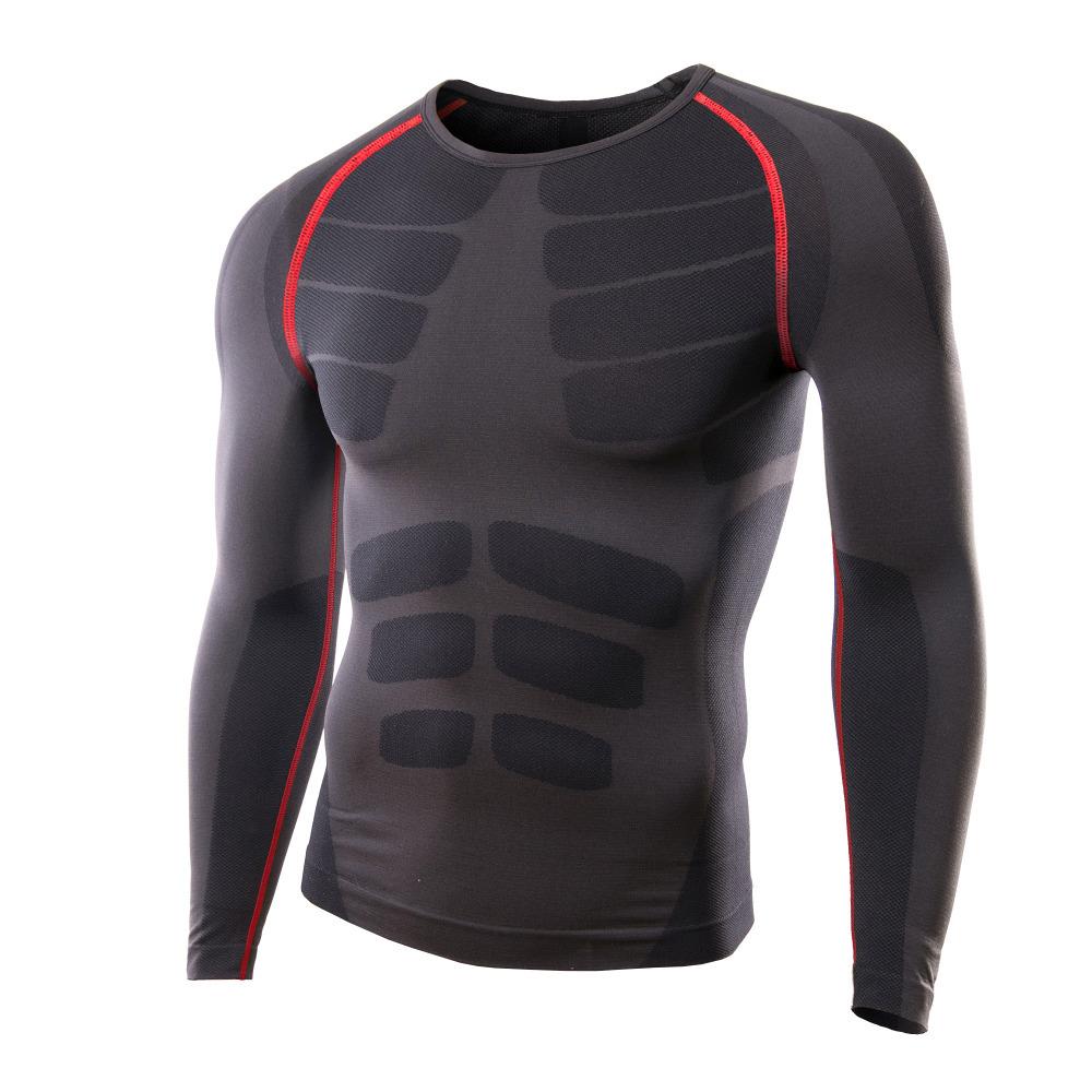 2015 New Men Sport T-Shirt Compression <font><b>Base</b></font> <font><b>Layers</b></font> Long Sleeve t shirt Skins Sports Bodybuilding Fitness Running Slim Fit Tees