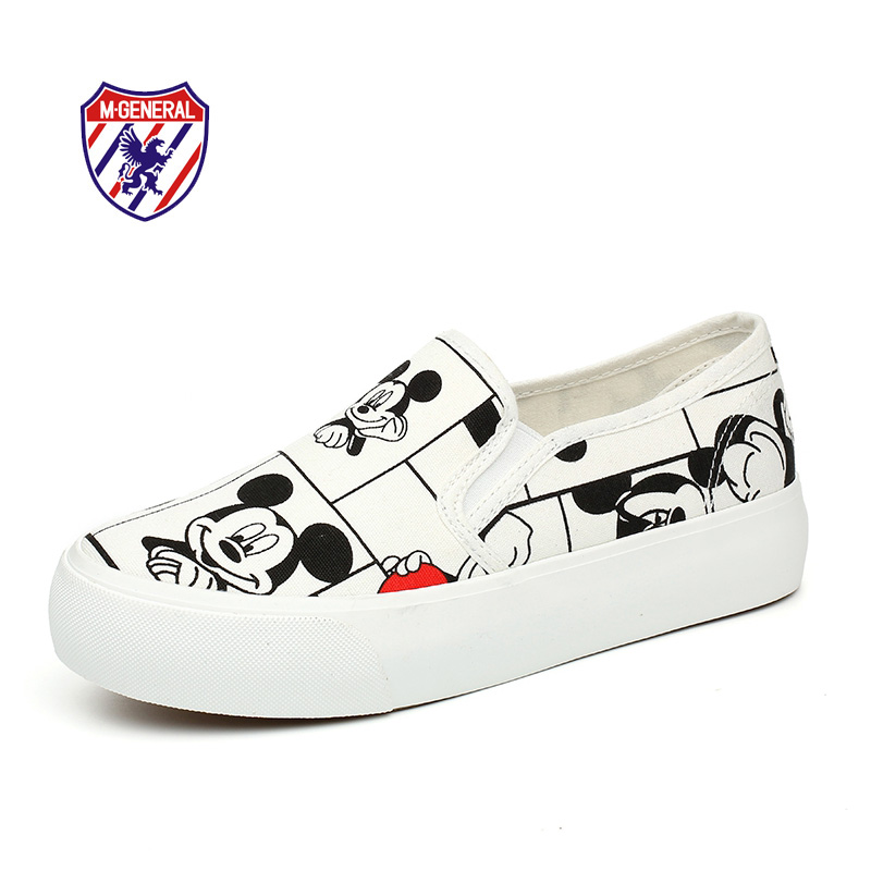 M.GENERAL Women Fashion Canvas Casual Shoes 2016 New Spring Summer Cute Ladies Animal Prints Shoe Slip-On Chaussures Femme M630(China (Mainland))