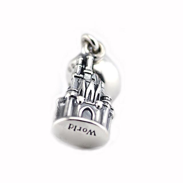925 - серебристо-ювелирные уолт мира замок золушки бусины подходящий европейский оригинальный браслет серебряный мода DIY