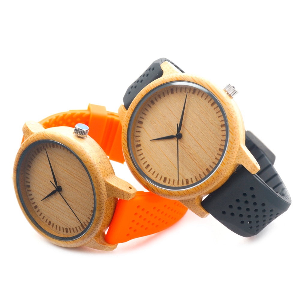 2016 Brand New Fashion Mens Quartz Analog Wooden Watch Casual Male Business Watches Top Quality with Colorful Silicon Band(China (Mainland))