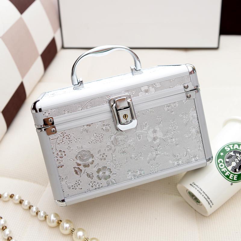 Professional cosmetics case with lock nail art tool box portable Medium Small household make-up cosmetics storage box(China (Mainland))