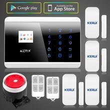 $ 98.99 anglais / russe / français / espagnol TFT Android IOS APP pavé Touch GSM système d'alarme PSTN double Net systèmes d'alarme de sécurité(China (Mainland))