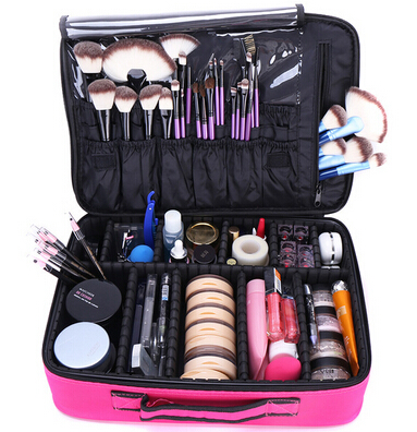Women High Quality Professional Makeup Organizer Bolso Mujer Cosmetic Case Large Capacity Storage Bag Suitcases 40*28*14cm<br><br>Aliexpress
