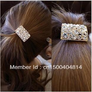Hot-selling exquisite rhinestone riebeckite cutout hair accessory hair accessory hair rope headband vivi