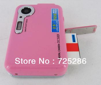"High quality DC-500F 2012 new cheap gift still digital camera,5.0 Mega pixel CMOS 4X digital zoom 2.4"" LTPS LCD,free shipping"